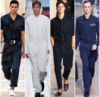 Left to right: Louis Vuitton, Damir Doma, Hermes, Lanvin