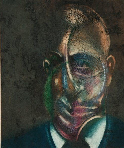 Francis Bacon, Portrait de Michel Leiris, circa 1976
